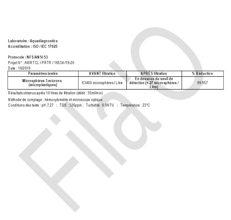 Rapport Tests FilaO - Microplastiques